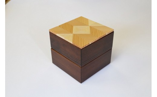 45001 「結粋」:お弁当箱(こ重2段)(本漆仕上げ)