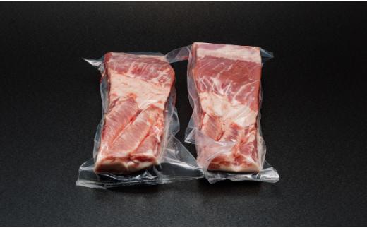 NA74 【厳選豚肉】長崎県産豚バラブロック 500g×2本-2