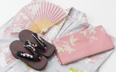 [№5862-1134]【チケット】選べるコーディネート!女性浴衣4点セット