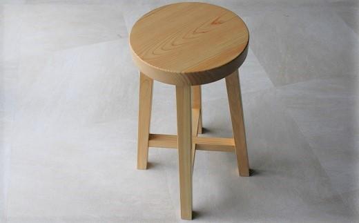 D-3.【好木心あふれる】ヒノキのスツール 丸