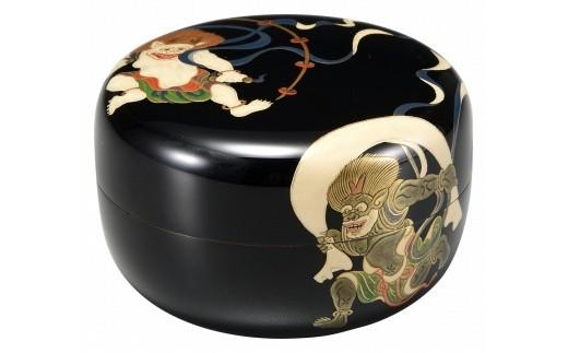 輪島塗 平棗(風神雷神蒔絵)