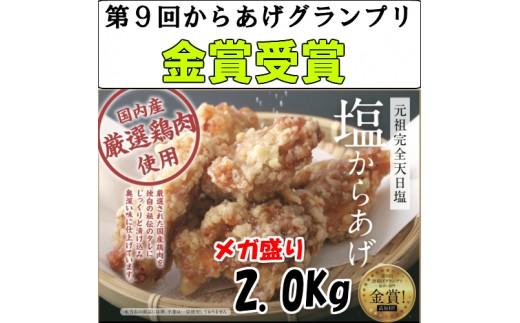 【からあげグランプリ金賞】田野屋鶏旦那特製 塩からあげ2Kg