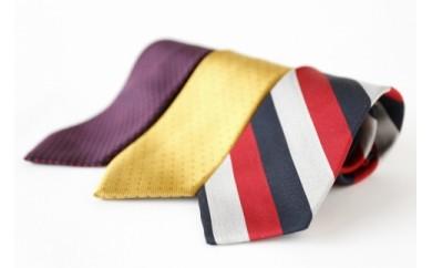 シルク100%で胸元を際立出せる暖色系ネクタイ3本セット
