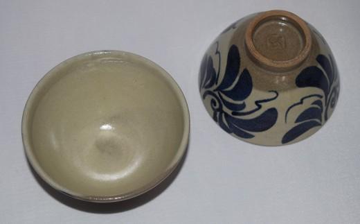 【やちむん市場】草紋3.5寸マカイ(ご飯茶碗)ペア