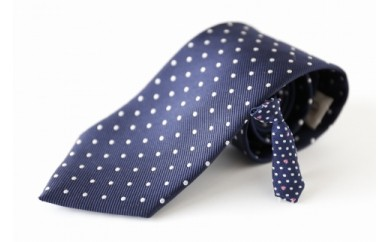 シルク100%のネクタイ&「p-Tie」(ミニネクタイ)セット