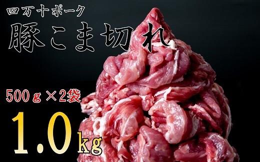 Adf-24【期間限定】◆丁度いい1.0㎏‼◆四万十町産◆新鮮国産ブランド豚こま切れセット