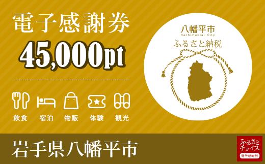 HMC003 岩手県八幡平市 電子感謝券 45,000pt