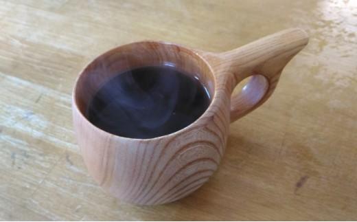 [№5633-0059]会津只見の天然木 ククサカップ