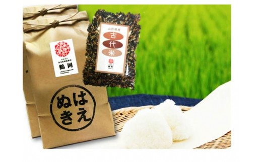 B01-002 特別栽培米はえぬき(10kg)・古代米(300g)