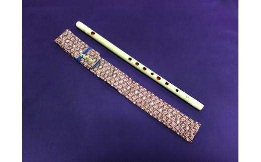 篠笛楽遂 ドレミ調八笨調子(C調)籐巻仕上げ、笛袋と篠製こはぜ付。