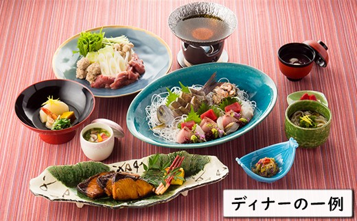 夕食は和風のコース料理となっております。