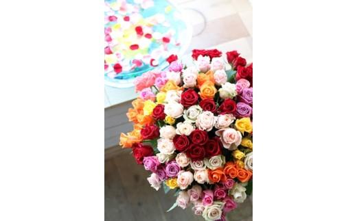 憧れの100本のバラのブーケ<LotusGarden>