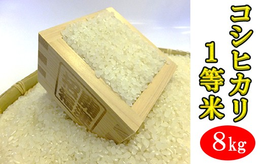 【010-002】房州産1等米コシヒカリ8kg