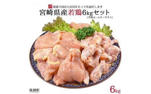 a504_hn <宮崎県産若鶏6kg3種セット> 2019年6月末迄に順次出荷