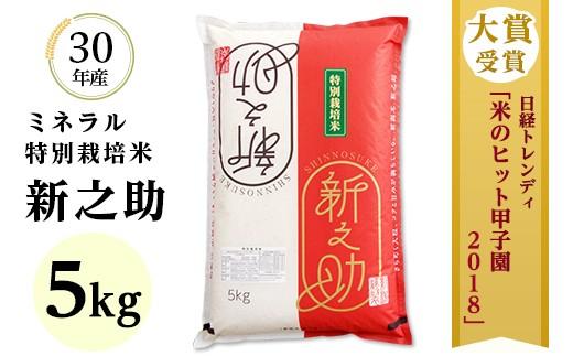 【H30年産】新潟県長岡産新之助 5kg(ミネラル特別栽培米)