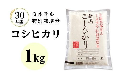 【H30年産】新潟県長岡産コシヒカリ 1kg(ミネラル特別栽培米)