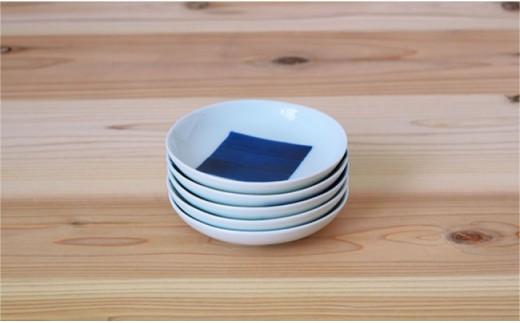 PB11 【波佐見焼】染付 3寸丸小皿 5枚組【團陶器】-4