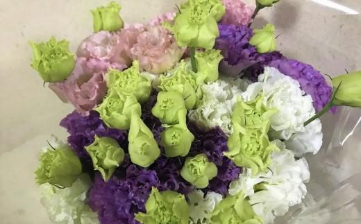 切り花で人気!!高級感溢れる「トルコキキョウ」花束【3月から発送】