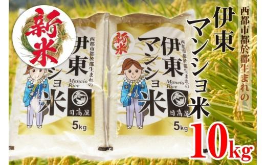 1.5-6 【先行予約・数量限定】伊東マンショ米 令和元年産 新米コシヒカリ10kg   8月上旬より発送開始