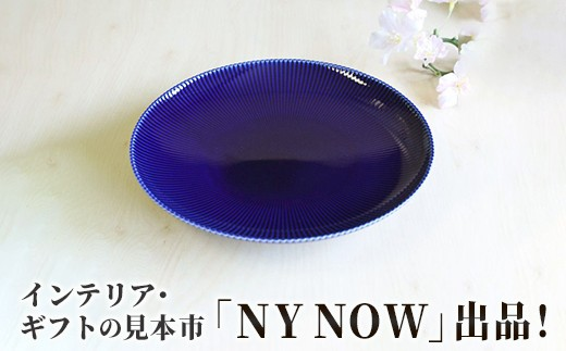 KR19016 国際見本市(NY NOW)出品!ピンストライプ(R)中皿 1枚
