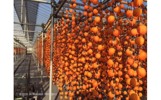 柿すだれ(毎年10月下旬~11月中旬にはこのような光景が広範囲に亘って見られます)