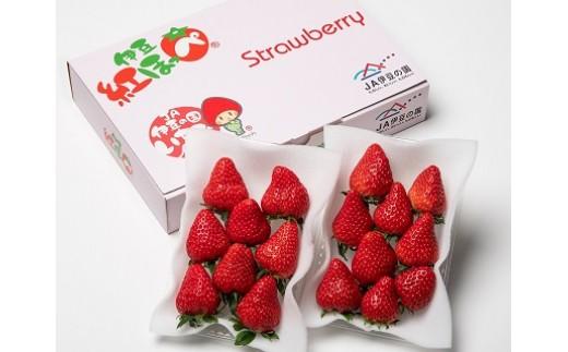 【先行予約限定500セット!】005-004 新鮮いちご!伊豆紅ほっぺ(280g×2パック)