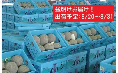 [№5898-0123]盆明 津軽産 青肉メロンご家庭用約5kg4~6玉