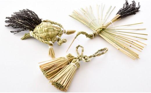 [L011] 能登里山のしめ縄飾り「鶴亀福飾りの縁起物づくしセット」