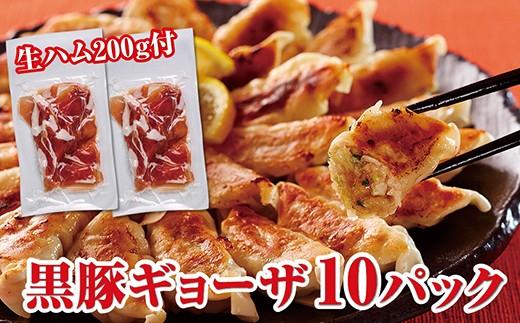5653 肉汁じゅわ~っ!黒豚ギョーザ10パック+生ハム肉200g