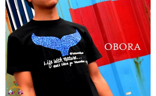 563TOKUNOSHIMA発ブランド OBORA Tシャツ 【LifeWithNature(BLACK)】