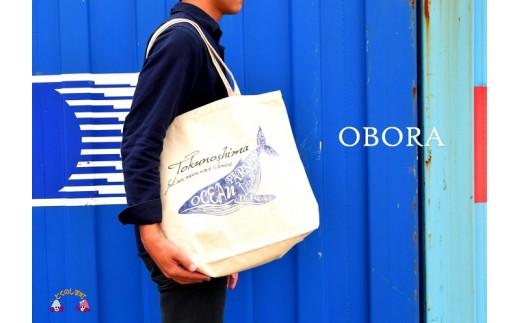 566 TOKUNOSHIMA発ブランド OBORA トートバッグ【OceanParadaise(Lサイズ)】