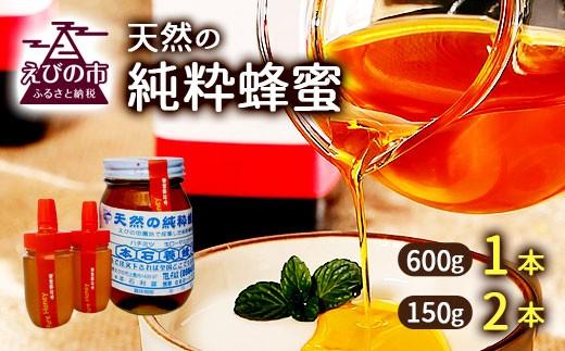 国産 天然の純粋蜂蜜3本セット 合計約900g(百花はちみつ)純粋蜂蜜