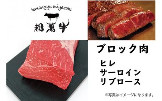 都萬牛 黒毛和牛 ブロック肉セット<45-2>