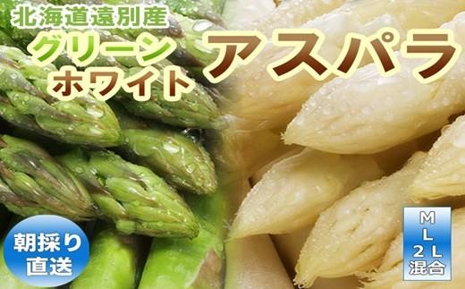 【必見!!食べ比べセット】2色アスパラ(グリーン・ホワイト)