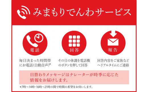 郵便局のみまもりサービス「みまもりでんわサービス」(携帯電話)(12か月)