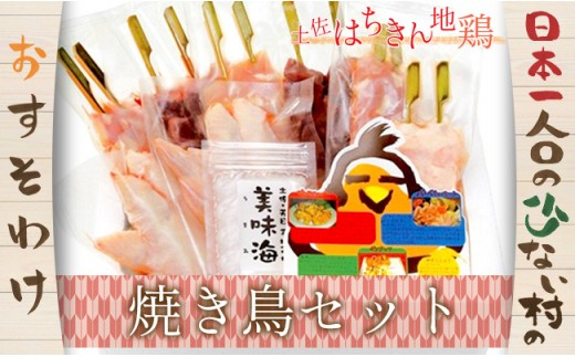大川村土佐はちきん地鶏の焼き鳥セット【日本一人口の少ない村】