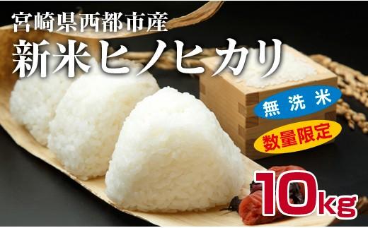 【数量限定】宮崎県西都産 令和元年産 ヒノヒカリ 10kg (無洗米)<1.5-26>