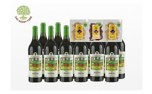 0062-233 ワイン12本【メルロ(赤)】と無添加ドライフルーツ3袋セット