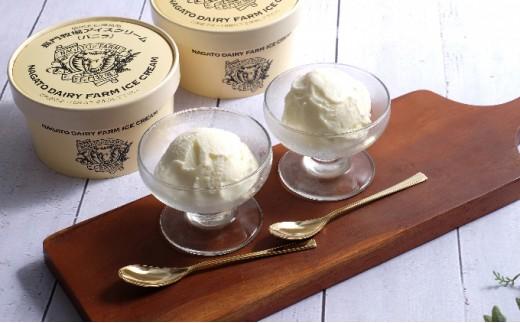[№5604-0047]信州・長門牧場アイスクリーム 480ml バニラ2個セット
