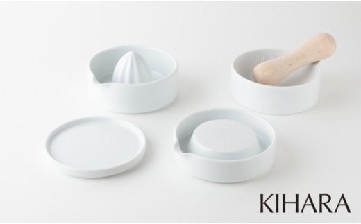A20-105 KIHARA SITAKU(蓋・おろし器・レモン絞り・すり鉢・すり棒)