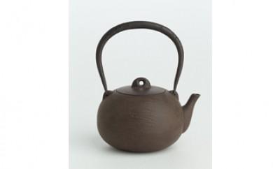松葉紋圓珠形鉄瓶1個