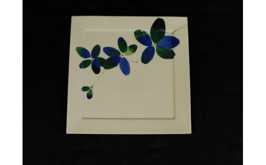 H488和紙染めあけびプレート皿(瀬貞)