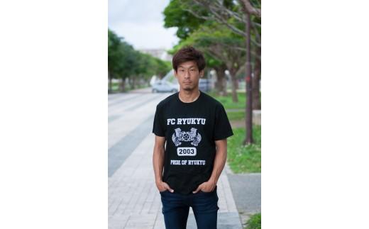 FC琉球 2019 エンブレムTシャツ ブラック(S~XLサイズ)