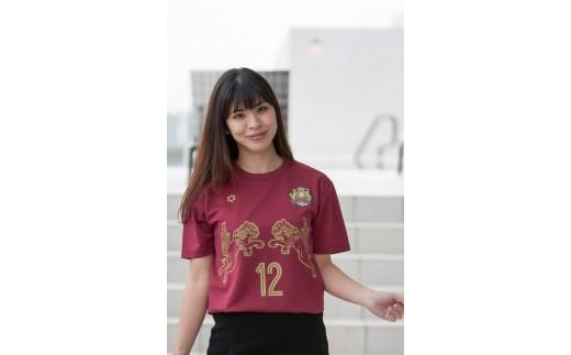 FC琉球 2019 シーズンコンフィットTシャツ ベンガラ(L、XLサイズ)