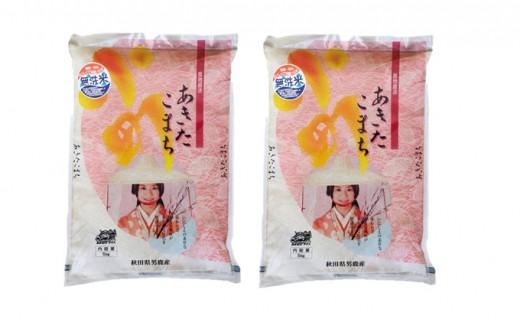 [№5605-0129]【あきたこまち】なまはげライス無洗米5kg×2袋/計10kg