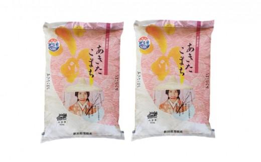 [№5605-0132]【あきたこまち】なまはげライス無洗米10kg×2袋/計20kg