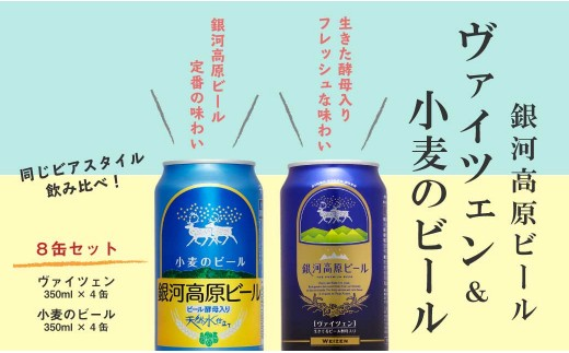 銀河高原ビール ヴァイツェン&小麦のビール のみ比べセット