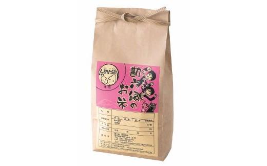 無肥料、無農薬、天日干しの「亀の尾」玄米1.5kg(勘六縁のお米)