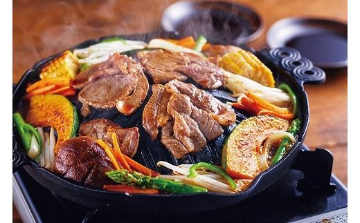 肉汁とタレの染み込んだ焼き野菜も美味い!