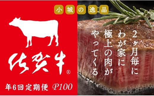 J100-001 【定期便】佐賀牛隔月6回コース(シャトーブリアン含む)